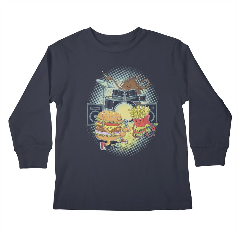 Tasty tunes Kids Longsleeve T-Shirt by arisuber's Artist Shop