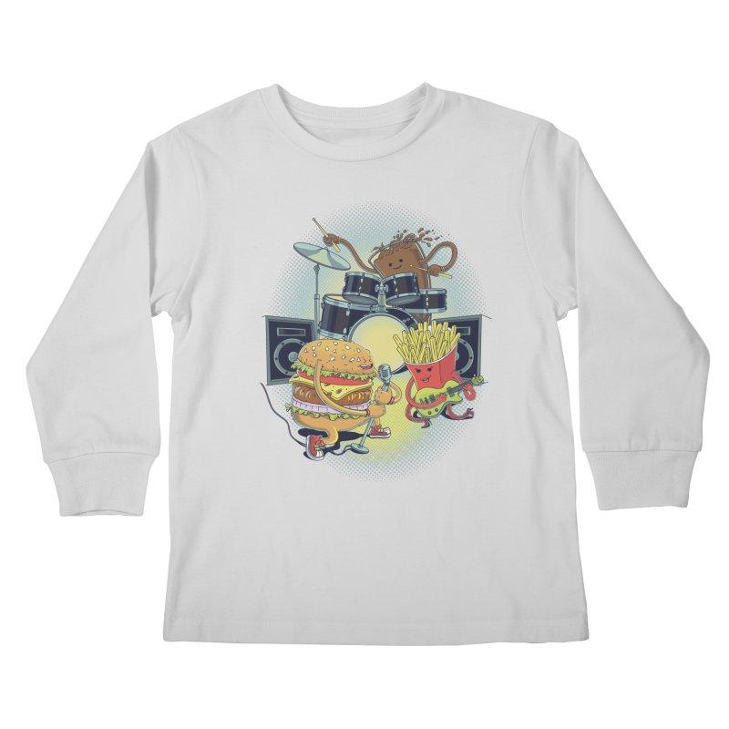 Tasty tunes Kids Longsleeve T-Shirt by arisuber's Artist Shop