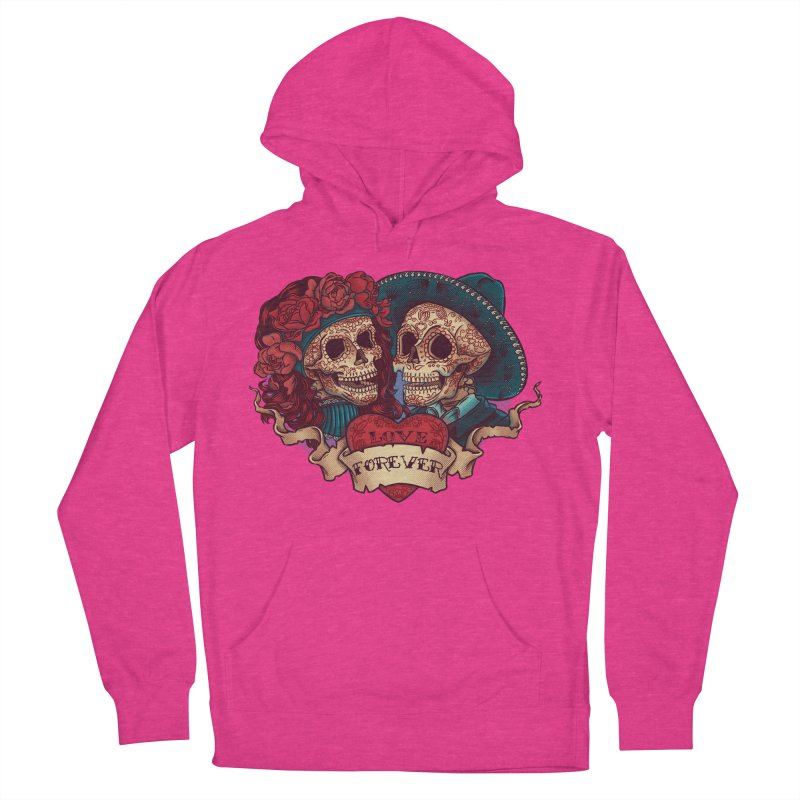 Eternal love Women's French Terry Pullover Hoody by arisuber's Artist Shop