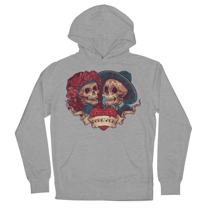 Eternal love Men's French Terry Pullover Hoody by arisuber's Artist Shop