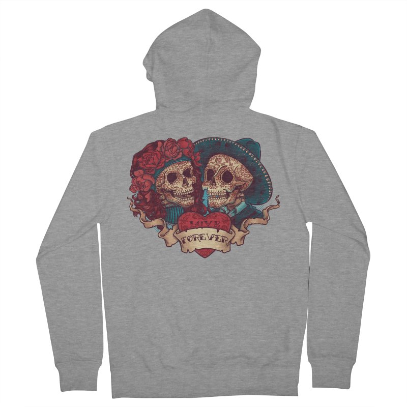 Eternal love Women's French Terry Zip-Up Hoody by arisuber's Artist Shop