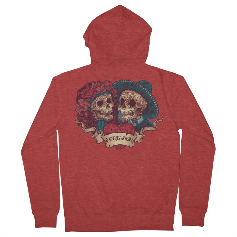 Eternal love Women's Zip-Up Hoody by arisuber's Artist Shop