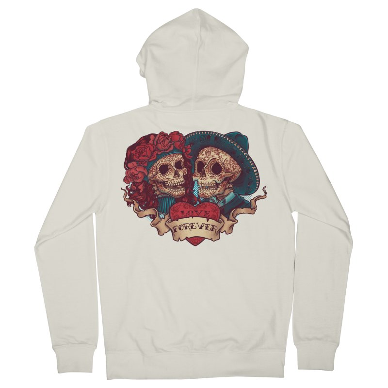Eternal love Men's French Terry Zip-Up Hoody by arisuber's Artist Shop