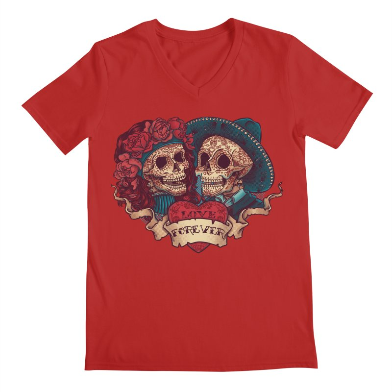Eternal love Men's V-Neck by arisuber's Artist Shop