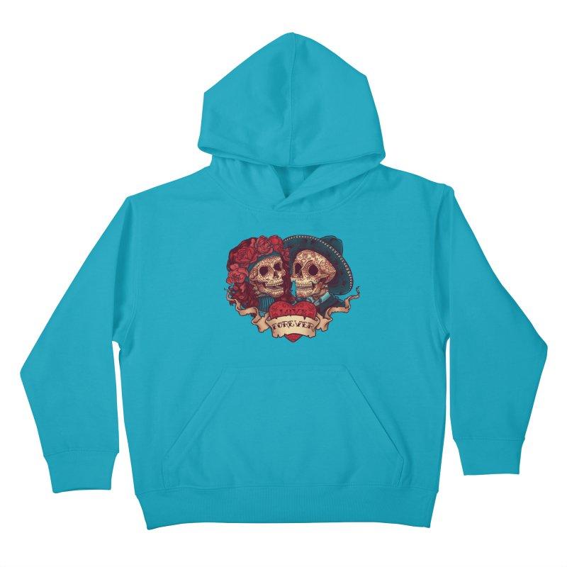 Eternal love Kids Pullover Hoody by arisuber's Artist Shop