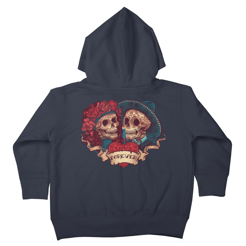 Eternal love Kids Toddler Zip-Up Hoody by arisuber's Artist Shop