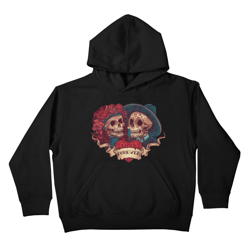 Eternal love Kids Pullover Hoody by arisuber's Artist Shop
