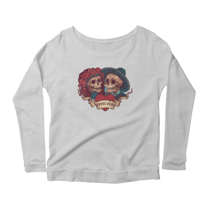 Eternal love Women's Longsleeve Scoopneck  by arisuber's Artist Shop