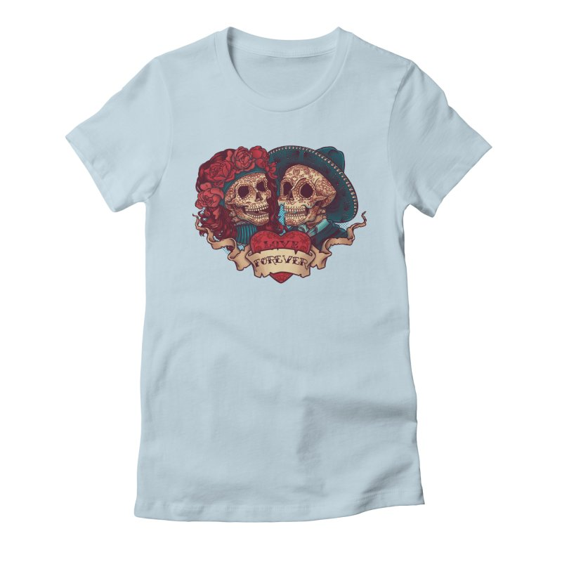 Eternal love Women's Fitted T-Shirt by arisuber's Artist Shop