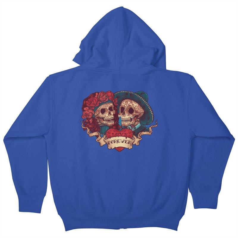 Eternal love Kids Zip-Up Hoody by arisuber's Artist Shop