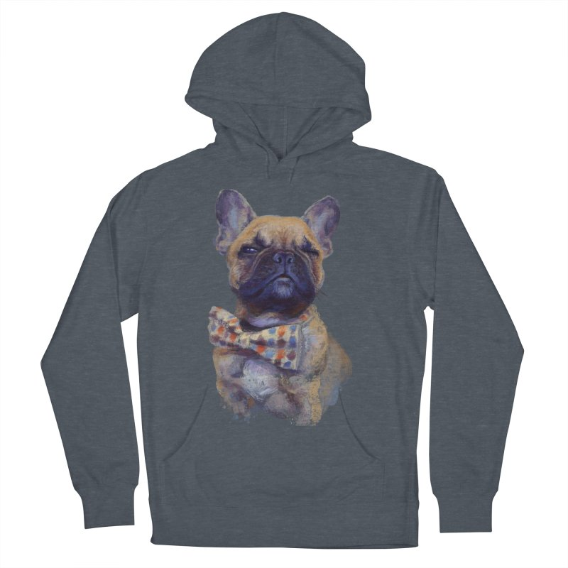 French Bulldog Women's French Terry Pullover Hoody by arisuber's Artist Shop
