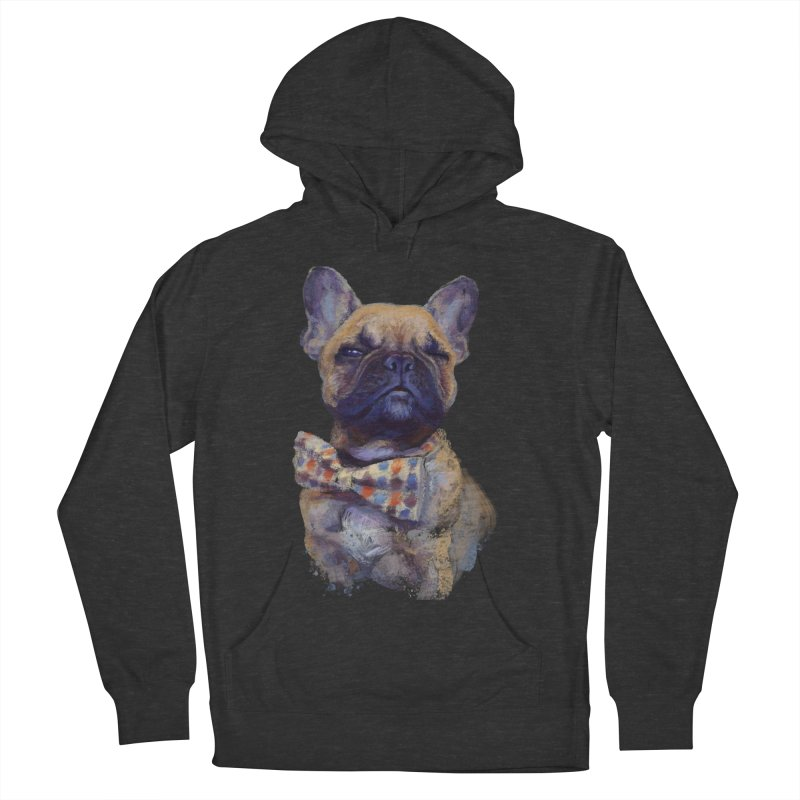 French Bulldog Men's French Terry Pullover Hoody by arisuber's Artist Shop
