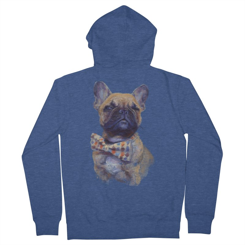 French Bulldog Women's French Terry Zip-Up Hoody by arisuber's Artist Shop