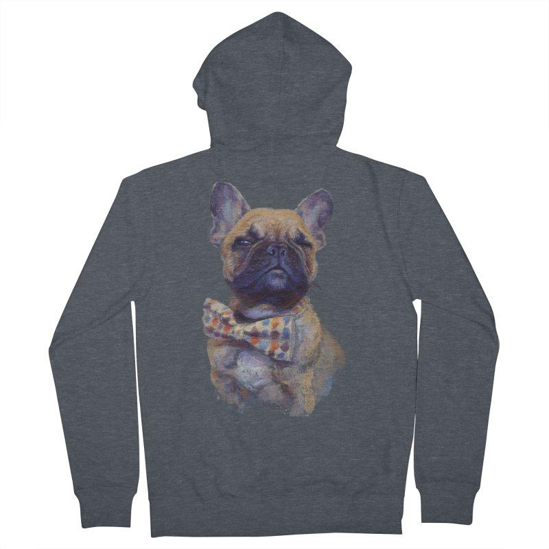 French Bulldog Women's Zip-Up Hoody by arisuber's Artist Shop