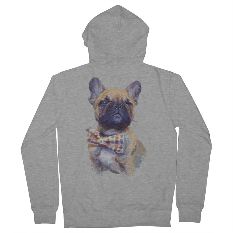 French Bulldog Men's Zip-Up Hoody by arisuber's Artist Shop