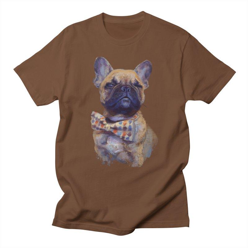 French Bulldog Men's T-Shirt by arisuber's Artist Shop