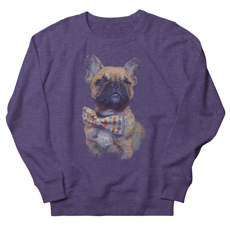 French Bulldog Men's Sweatshirt by arisuber's Artist Shop