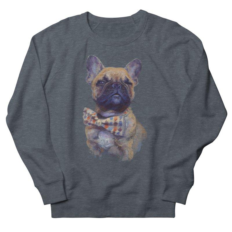 French Bulldog Men's Sweatshirt by arisuber's Artist Shop
