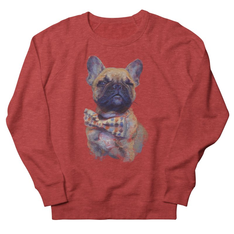 French Bulldog Men's French Terry Sweatshirt by arisuber's Artist Shop
