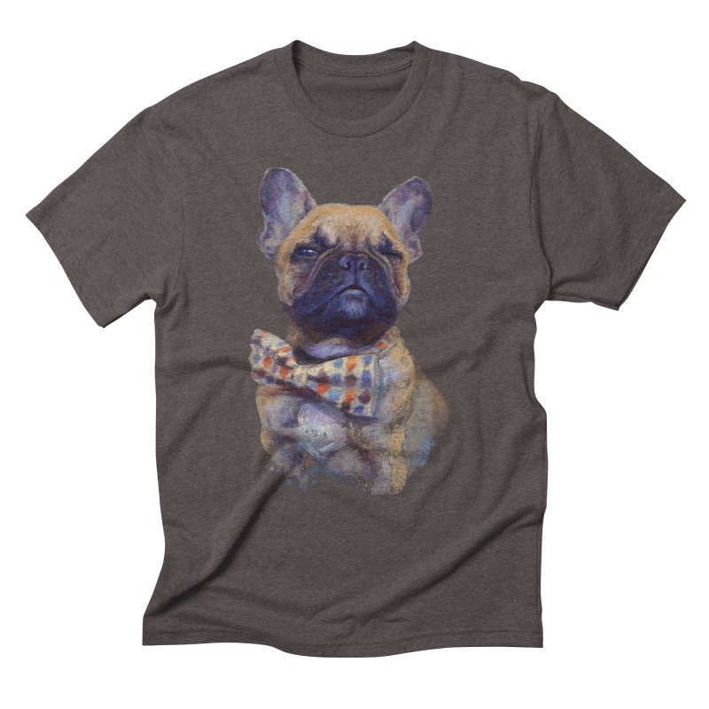 French Bulldog Men's Triblend T-shirt by arisuber's Artist Shop