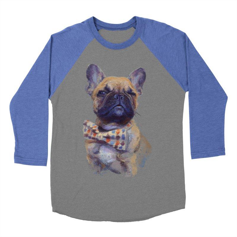 French Bulldog Women's Baseball Triblend T-Shirt by arisuber's Artist Shop