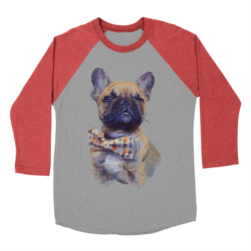 French Bulldog Men's Baseball Triblend T-Shirt by arisuber's Artist Shop