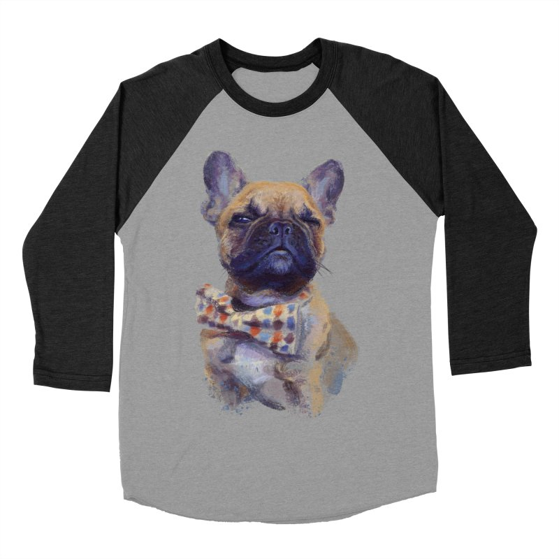 French Bulldog Men's Baseball Triblend Longsleeve T-Shirt by arisuber's Artist Shop