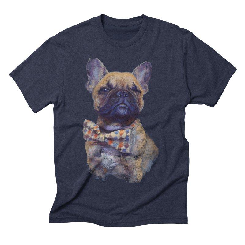 French Bulldog Men's Triblend T-shirt by arisuber's Artist Shop