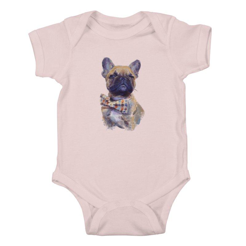 French Bulldog Kids Baby Bodysuit by arisuber's Artist Shop