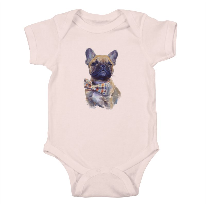 French Bulldog Kids Baby Bodysuit by arisuber's Artist Shop
