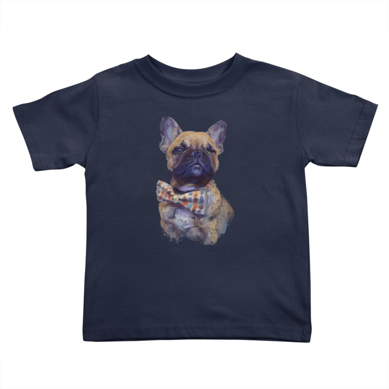 French Bulldog Kids Toddler T-Shirt by arisuber's Artist Shop