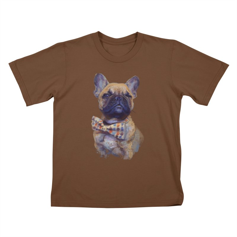 French Bulldog Kids T-Shirt by arisuber's Artist Shop