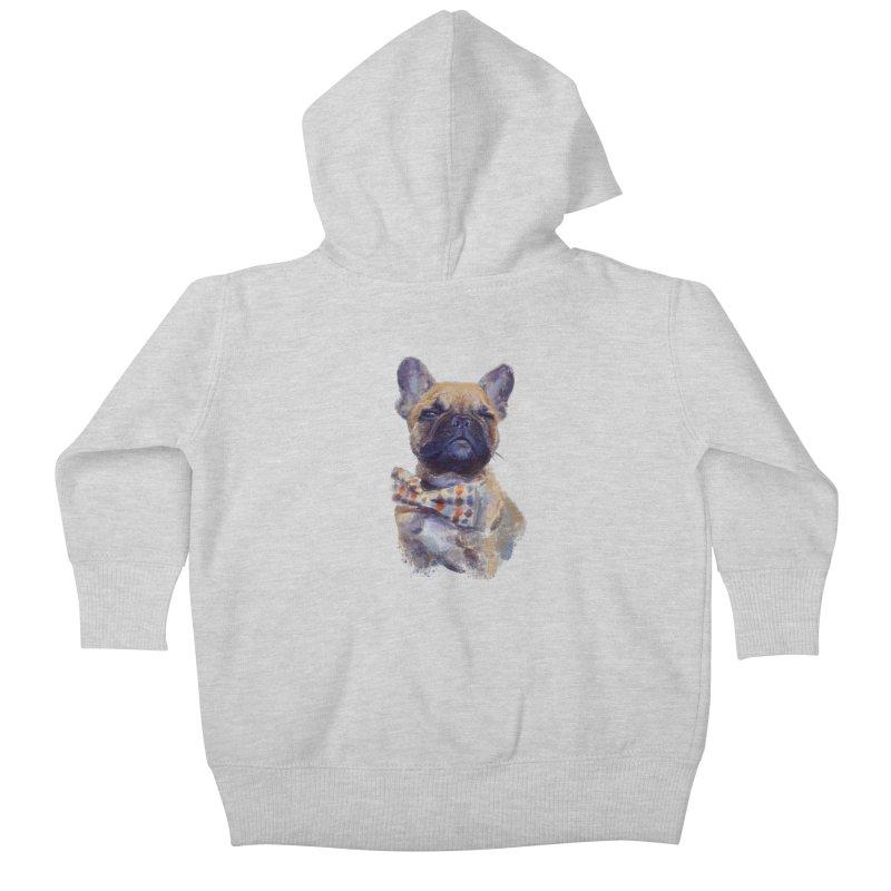 French Bulldog Kids Baby Zip-Up Hoody by arisuber's Artist Shop