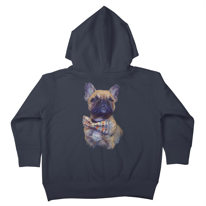 French Bulldog Kids Toddler Zip-Up Hoody by arisuber's Artist Shop