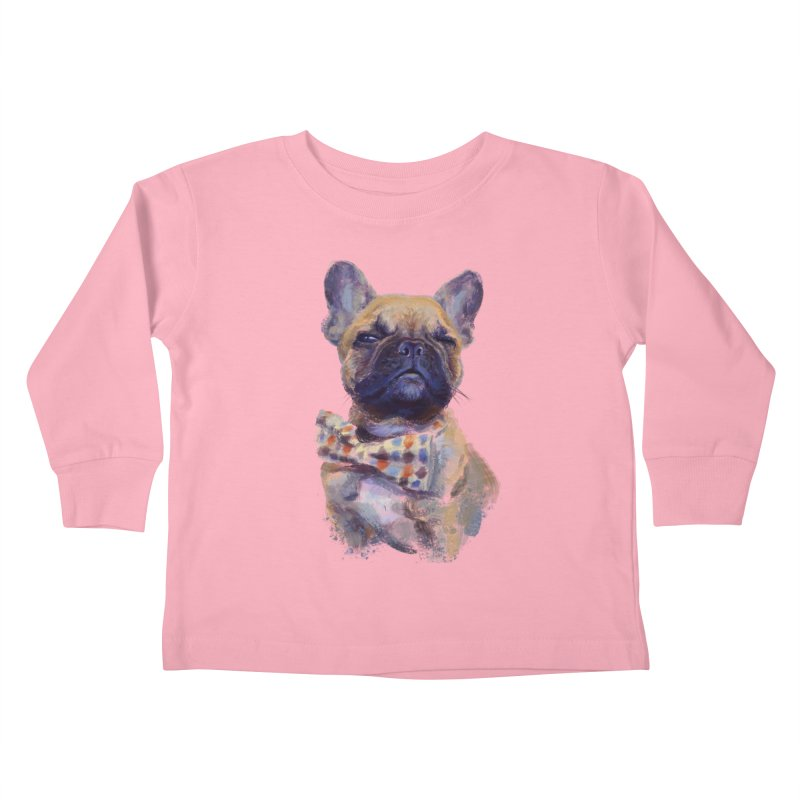 French Bulldog Kids Toddler Longsleeve T-Shirt by arisuber's Artist Shop
