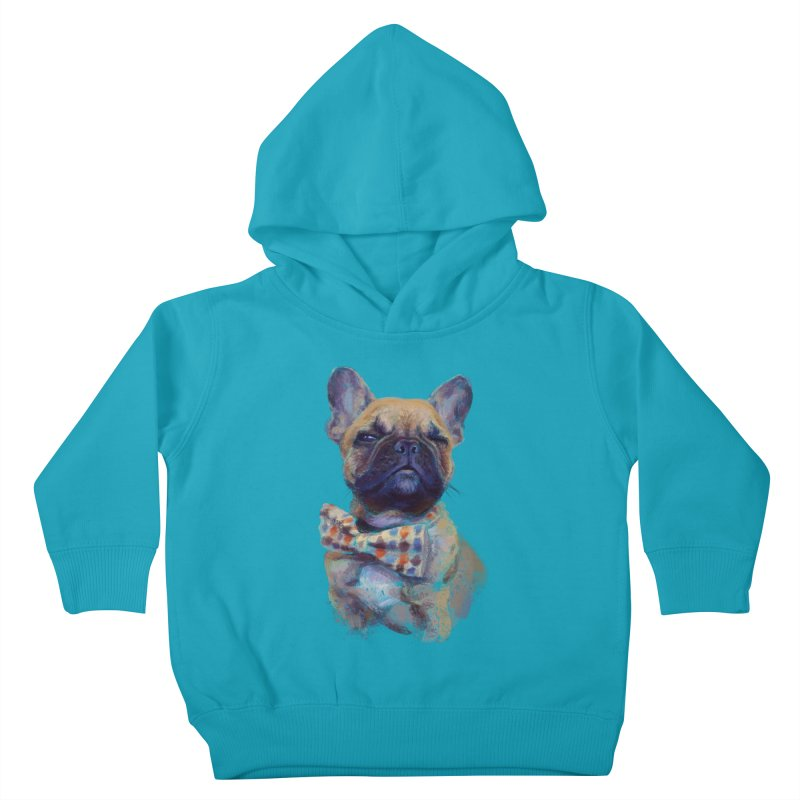 French Bulldog Kids Toddler Pullover Hoody by arisuber's Artist Shop