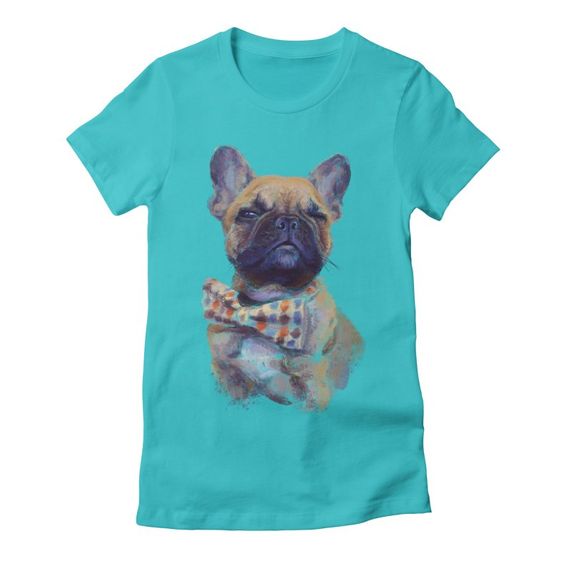 French Bulldog Women's Fitted T-Shirt by arisuber's Artist Shop