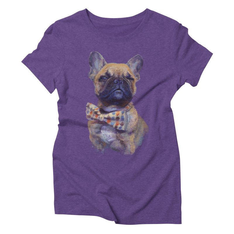 French Bulldog Women's Triblend T-Shirt by arisuber's Artist Shop