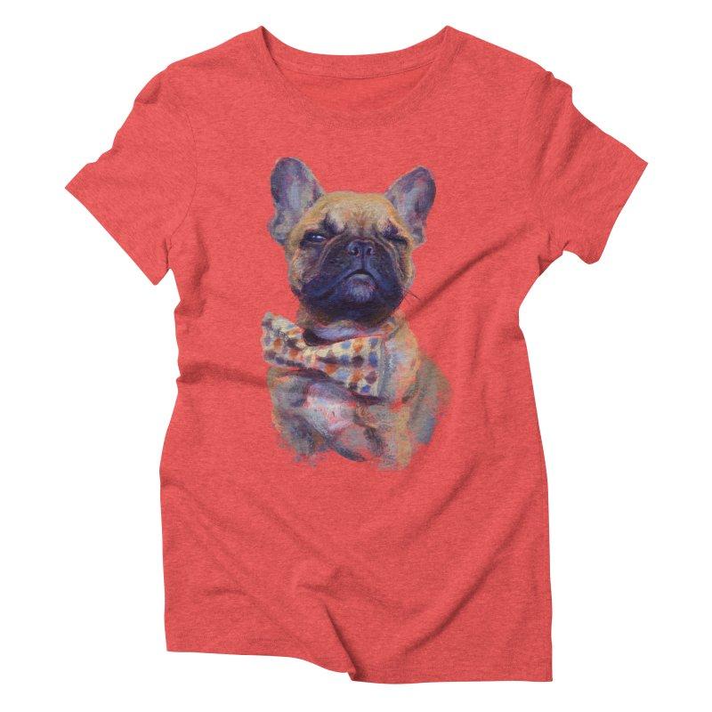 French Bulldog Women's Triblend T-Shirt by arisuber's Artist Shop