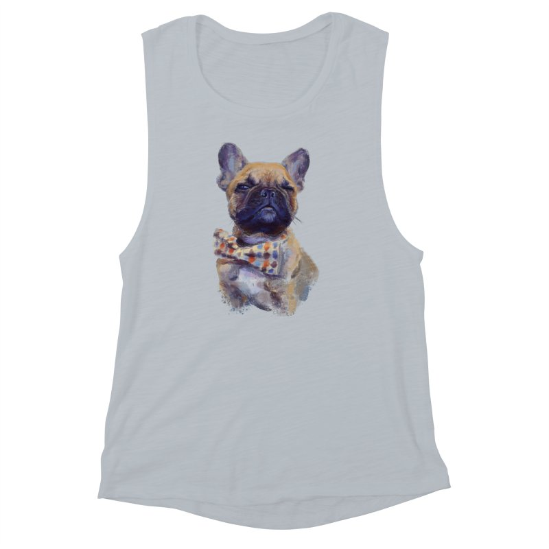 French Bulldog Women's Muscle Tank by arisuber's Artist Shop