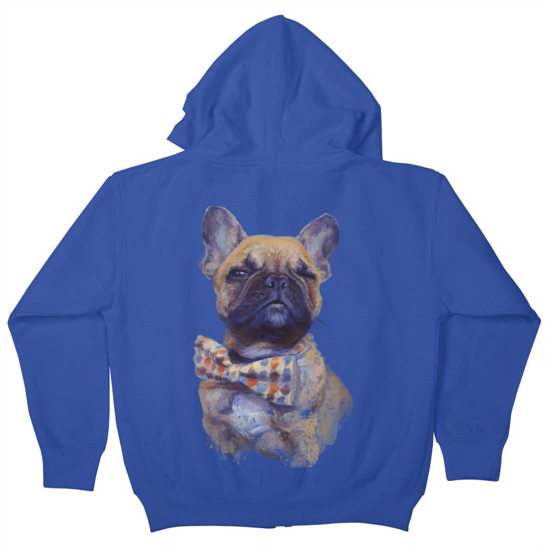 French Bulldog Kids Zip-Up Hoody by arisuber's Artist Shop