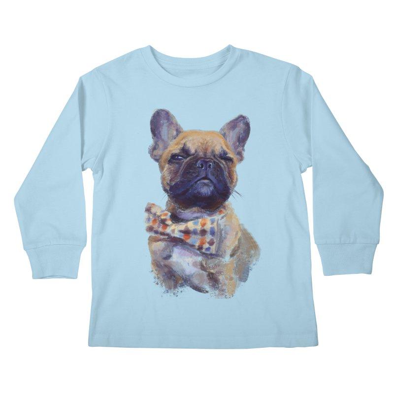 French Bulldog Kids Longsleeve T-Shirt by arisuber's Artist Shop