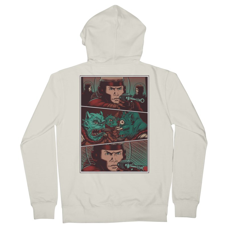 Comics Women's French Terry Zip-Up Hoody by arisuber's Artist Shop