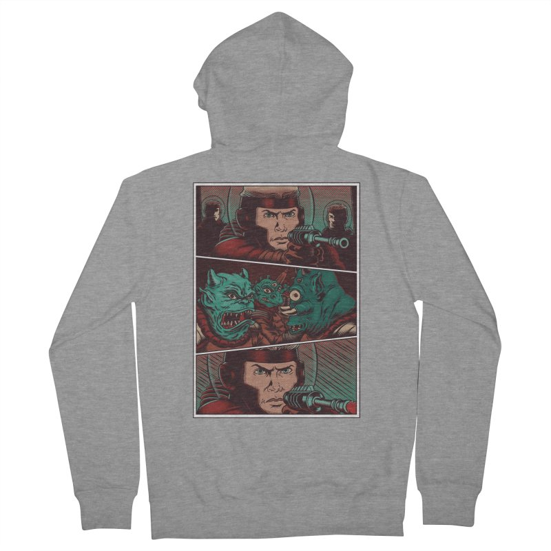 Comics Men's French Terry Zip-Up Hoody by arisuber's Artist Shop
