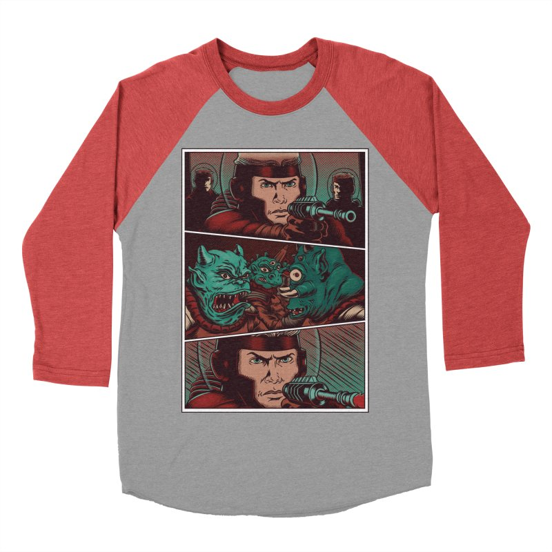Comics Women's Baseball Triblend T-Shirt by arisuber's Artist Shop
