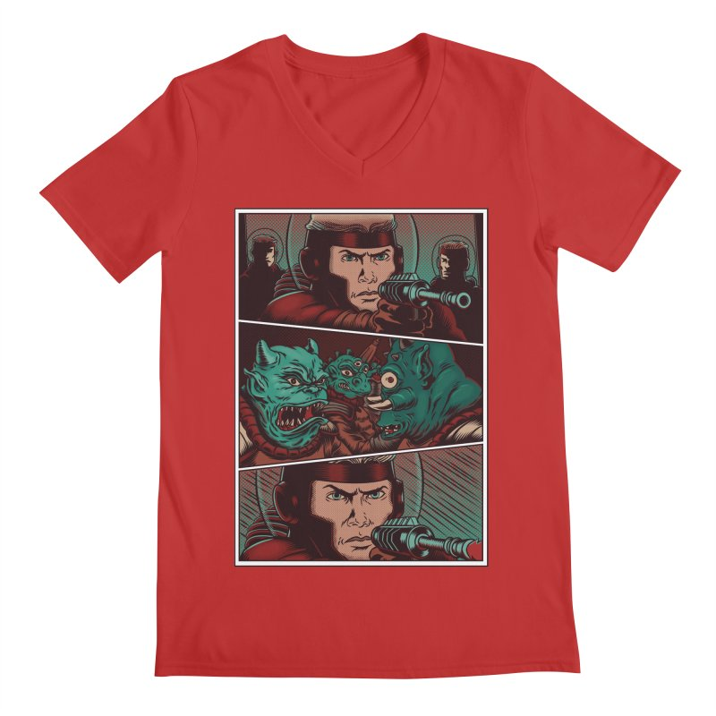 Comics Men's V-Neck by arisuber's Artist Shop