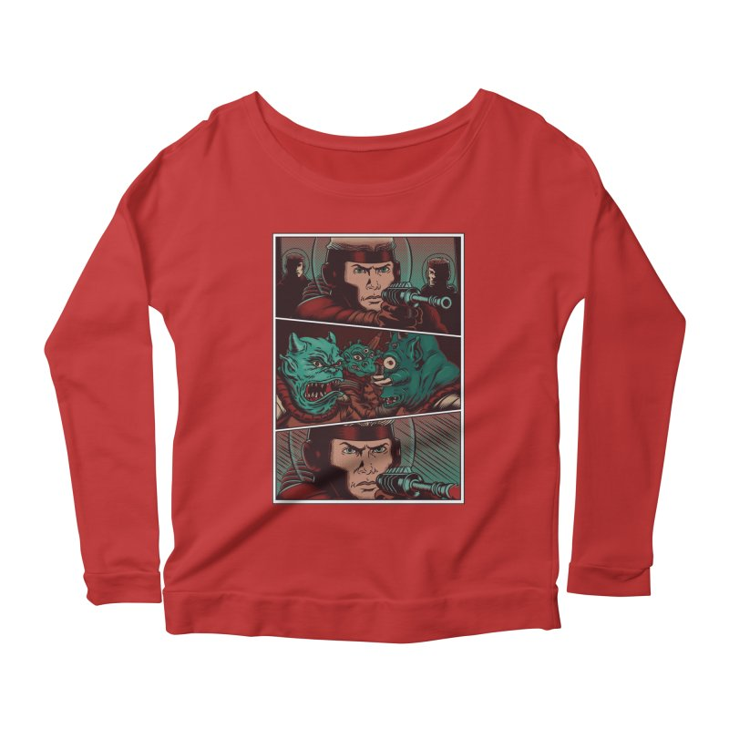 Comics Women's Longsleeve Scoopneck  by arisuber's Artist Shop