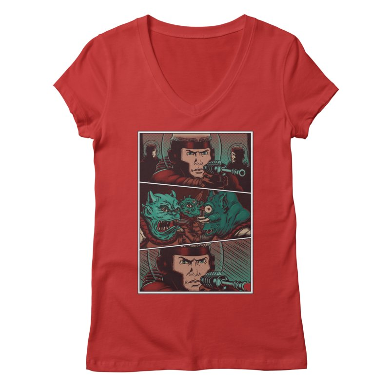 Comics Women's V-Neck by arisuber's Artist Shop