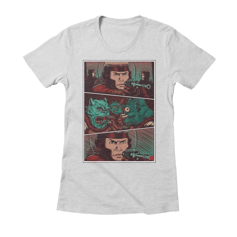 Comics Women's Fitted T-Shirt by arisuber's Artist Shop