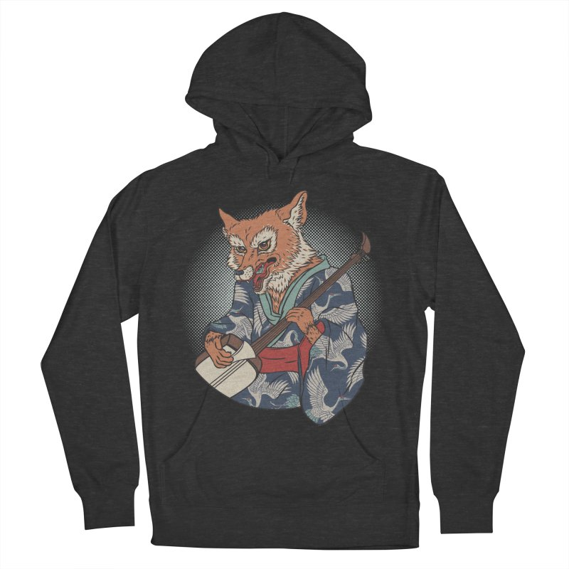 Kicune Men's French Terry Pullover Hoody by arisuber's Artist Shop